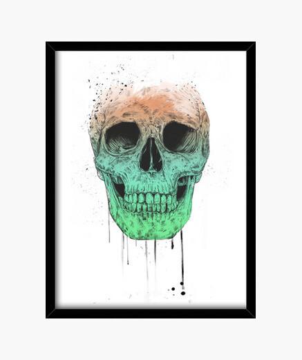 Quadro pop art skull