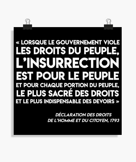 Poster - Art35-Insurrection-Blanc