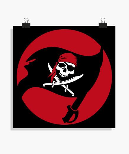 c1d2a6b27a Poster poster - bandiera pirata jolly roger - 2093043 | Tostadora.it