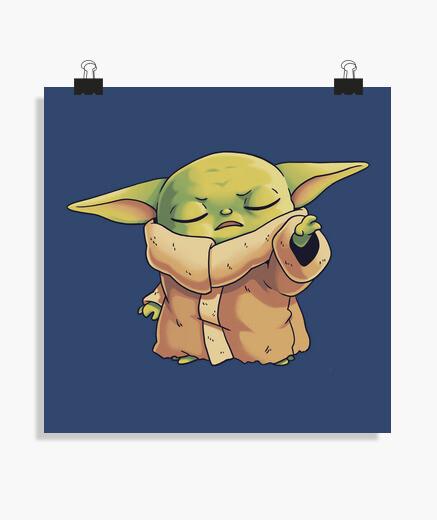 Póster Baby Yoda Mandalorian Jedi Master