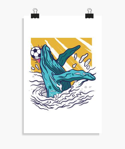 Poster balena di calcio