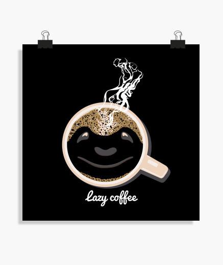 Póster café perezoso