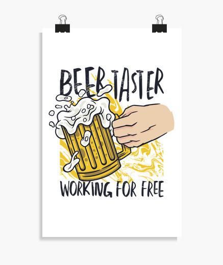 Póster catador de cerveza