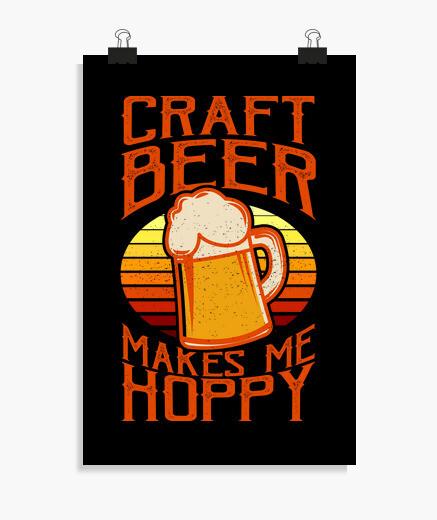Póster cerveza artesanal cerveza...