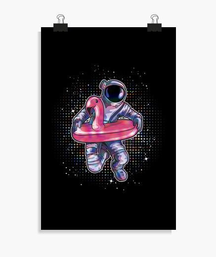 Póster flamenco astronauta