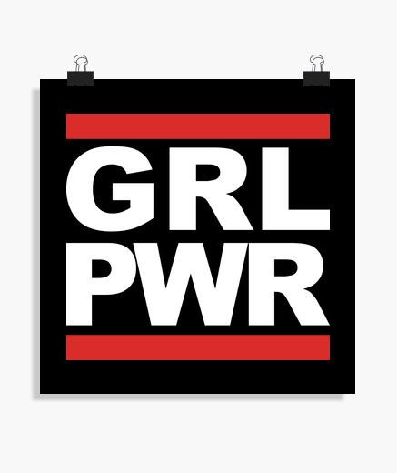 Póster GRL PWR - GIRL POWER