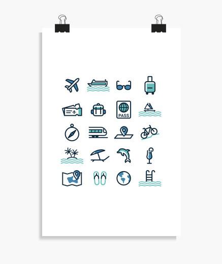Poster icone di viaggio