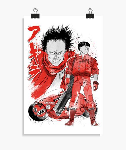 Póster Kaneda and Tetsuo sumi-e
