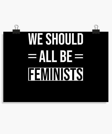 Póster lema feminista