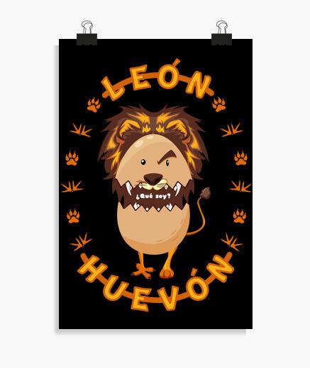 Póster León o Huevón