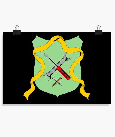 Póster manitas emblema viejo manitas...