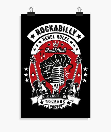 Póster Música Rockabilly Rockers Forever...
