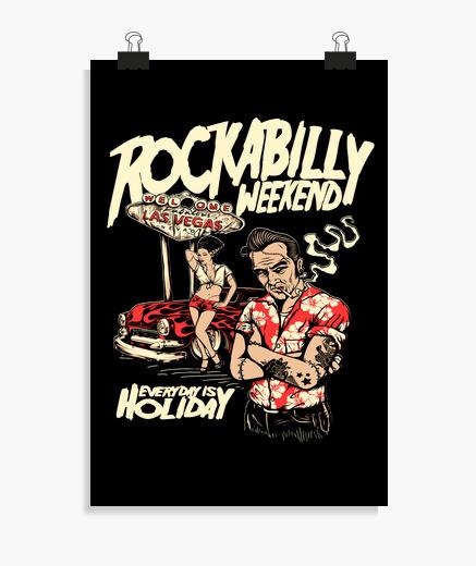 Póster Música Rockabilly Weekend Las...