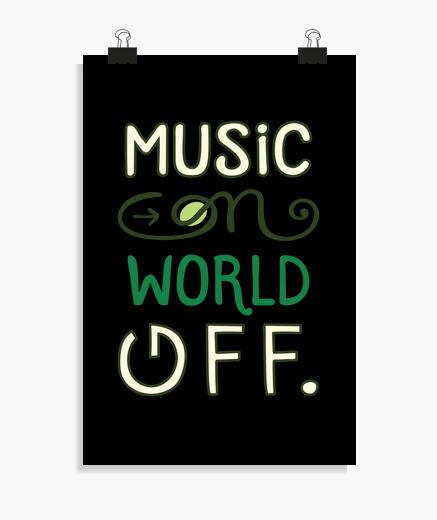 Poster musica sul mondo fuori citazione