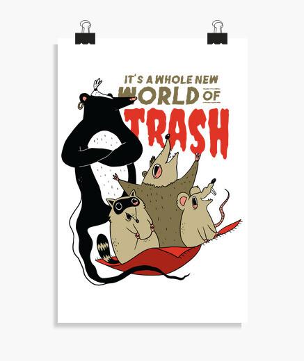 Poster nuovo mondo di spazzatura