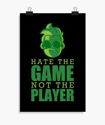 Póster odio el juego gracioso jugador...