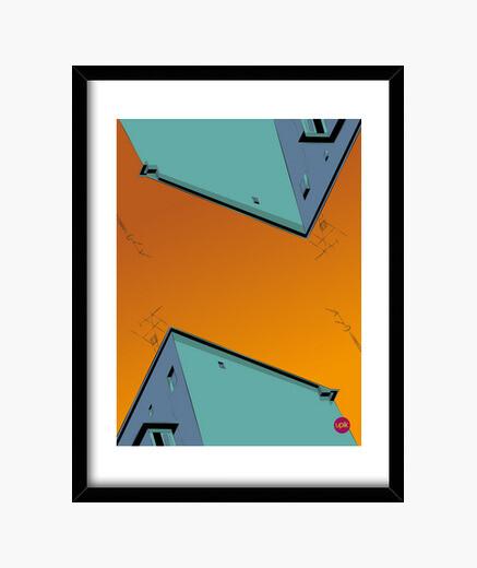 Cuadro Poster Orange Sky. Elige de qué tamaño lo quieres