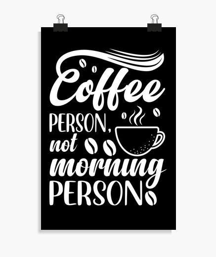Póster persona del café no persona de la...