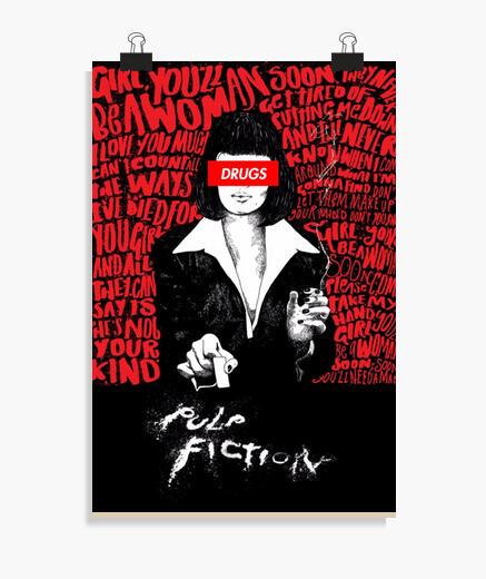 Póster Pulp Fiction Drugs