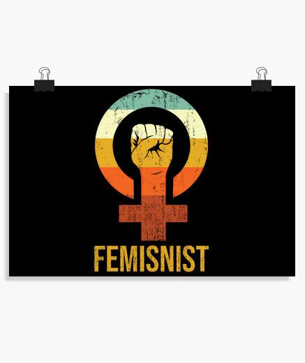 Póster símbolo del diseño del feminismo