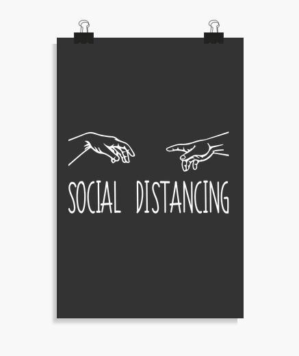 Póster social distancing poster