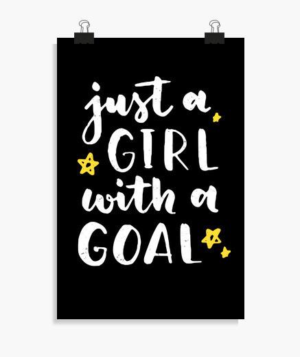 Póster solo una chica con un objetivo...