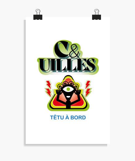 Poster t- t-shirt cuil les tetu a bord
