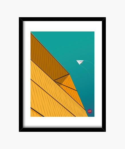 Cuadro Poster Turquise Sky. Elige de qué tamaño lo quieres