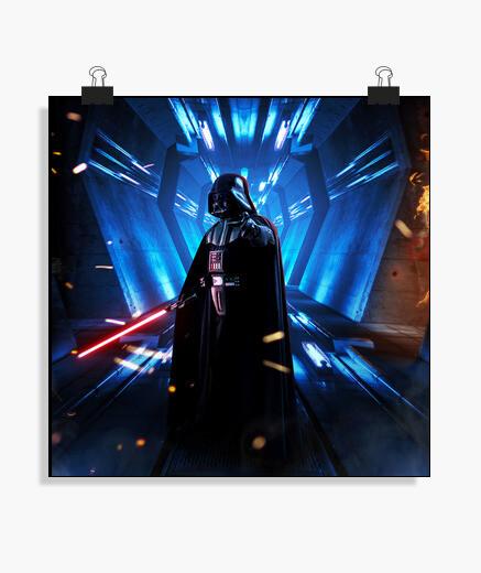 Póster Vader attack
