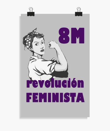 Póster vertical feminista.