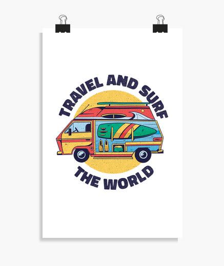 Poster viaggia e naviga per il mondo in...