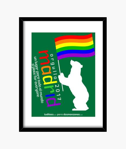 Pride 2017 madrid lgtbi framed print
