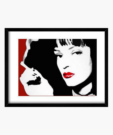 Quadro Pulp Fiction Pop Art Mia