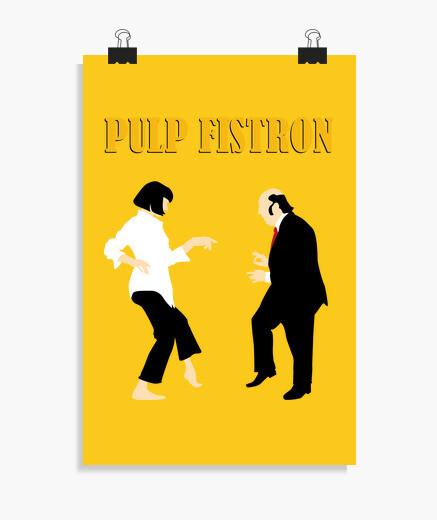 Póster Pulp Fistron Texto (20 x 30 cm)