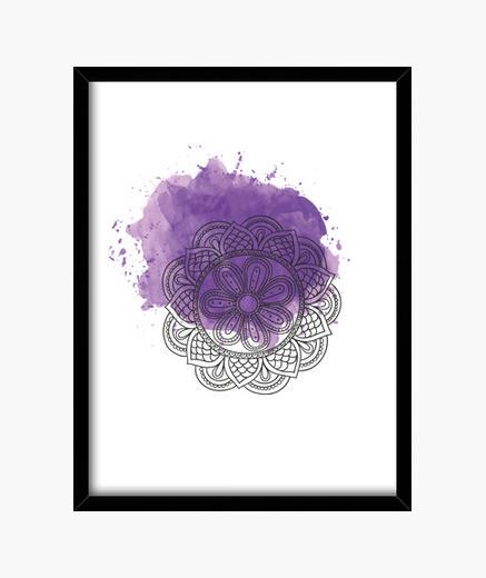 Cuadro Purple mandala