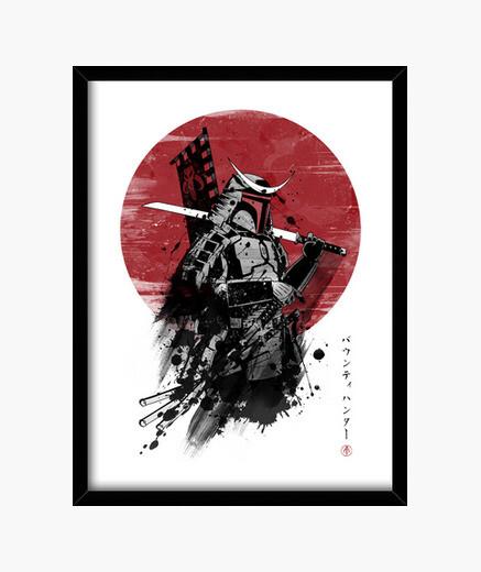 Quadro samurai mandalorian