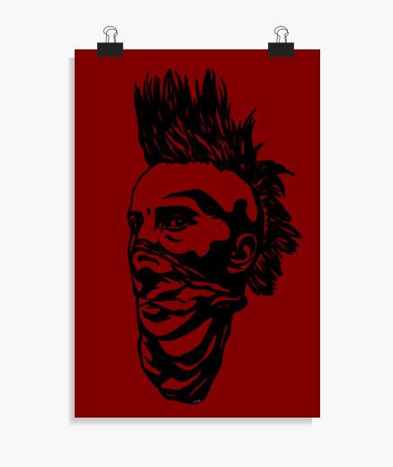 Poster ragazzo punk