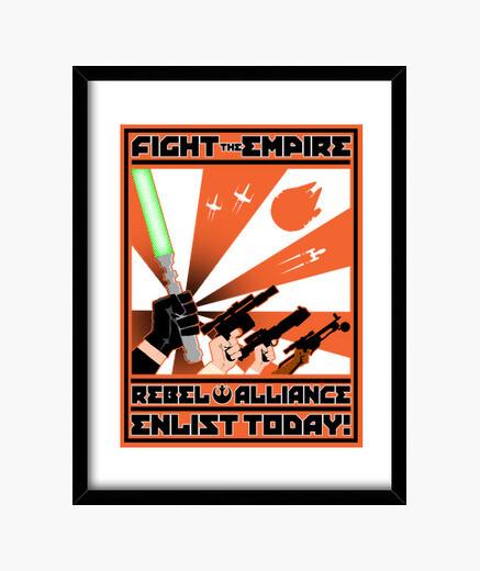 Cadre rebel publicité