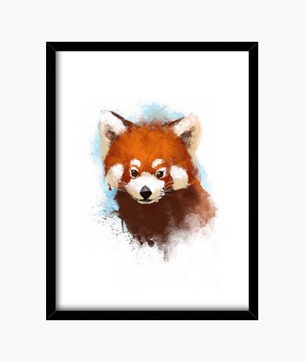 Cuadro Red panda ink print