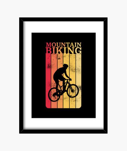 Cuadro regalo de ciclismo mtb de bicicleta de