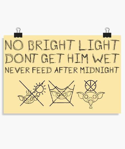 Poster regole di gremlins