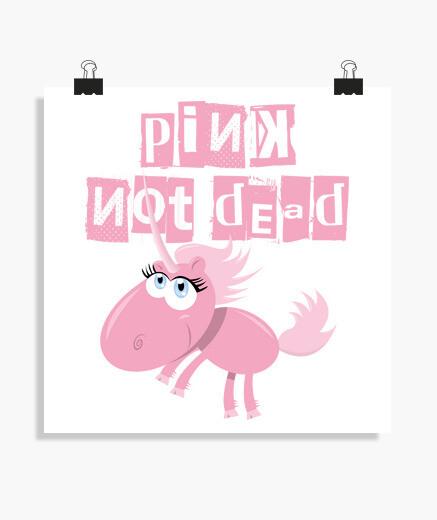 Poster rosa non dead