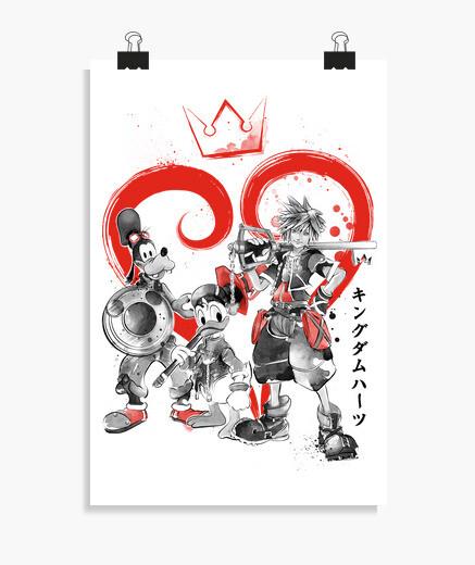 Poster royaume sumi-e