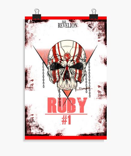 Póster Ruby skull - Poster