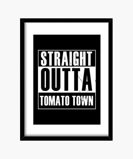 Cuadro salida directa de la ciudad de tomate