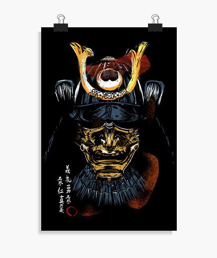 Poster samouraï bushido