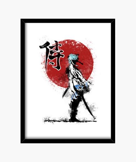 Cadre samouraï blanc