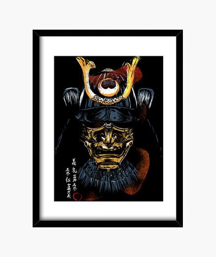 Quadro samurai bushido