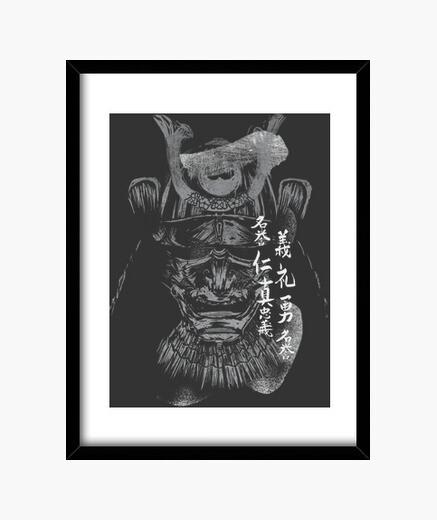 Quadro samurai bushido bn