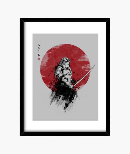 Cadre samurai tempête